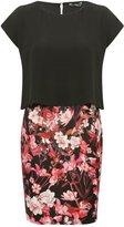 M&Co Petite floral print chiffon dress