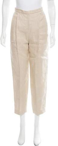 DELPOZO High-Rise Linen Pants w/ Tags