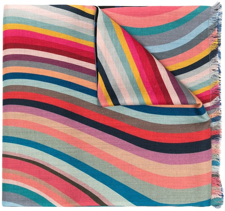 Paul Smith Color-Block Wave Scarf