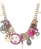 Betsey Johnson Antiqued Gem Bib Necklace - Women's