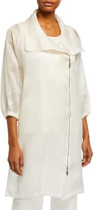 Misook Sheer Silk Organza Jacket