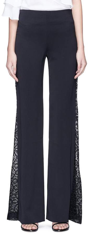 Alice + Olivia 'Mandy' guipure lace panel suiting pants