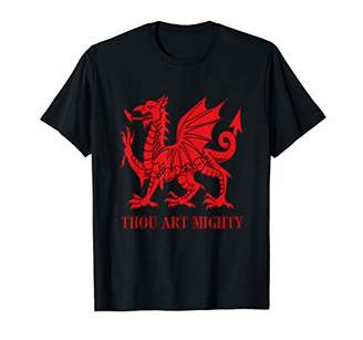 Dragon Optical Thou Art Mighty Red Welsh Rugby T-Shirt