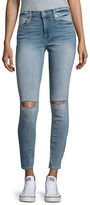 7 For All Mankind Distressed Faded Super Skinny Ankle Jeans