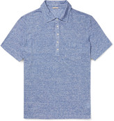 Massimo Alba - Slim-fit Striped Slub Linen Polo Shirt