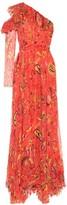 Etro Paisley silk chiffon gown