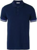 Moncler striped trim polo shirt - men - Cotton - S