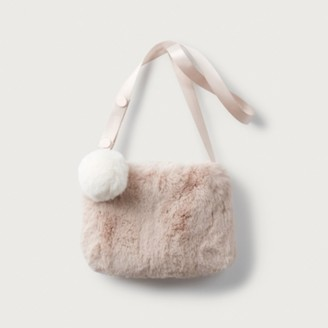 The White Company Faux-Fur Toddler Bag, Pink, One Size