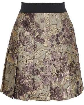 Dolce & Gabbana Pleated Brocade Mini Skirt