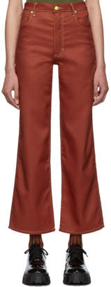Eckhaus Latta Red Wide Leg Jeans