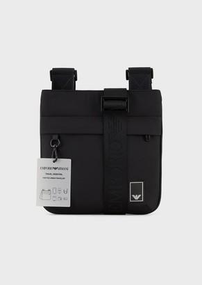 Emporio Armani Travel Essentials Flat Nylon Shoulder Bag