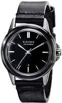 Electric Unisex EW0130050005 Carroway Leather Band Analog Display Japanese Quartz Black Watch
