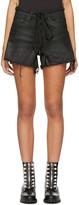 Off-White Black Denim Strap Shorts