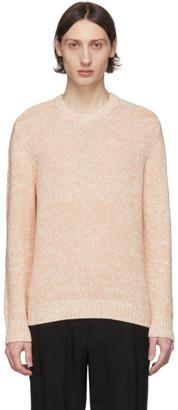Salvatore Ferragamo Pink and Off-White Alpaca Sweater