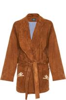 Alena Akhmadullina Suede Wrap Coat