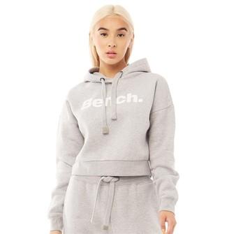 Bench Womens Class Cropped Hoodie Grey