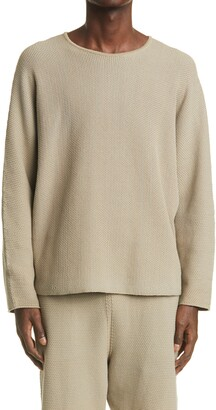 Homme Plissé Issey Miyake Rustic Cotton Blend Sweater