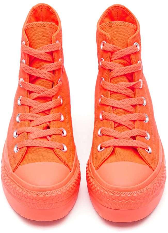 Nasty Gal Converse All Star High-Top Sneaker - Orange