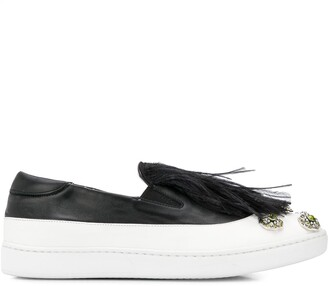 Mr & Mrs Italy Feather Slip-On Sneakers