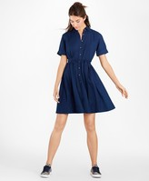 Brooks Brothers Cotton Oxford Shirt Dress