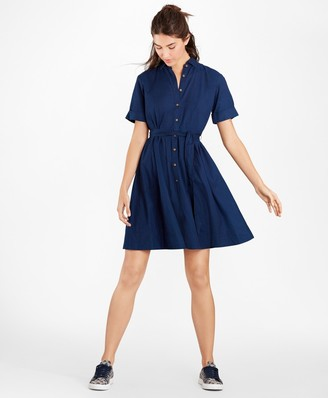 Brooks Brothers Cotton Oxford Shirt Dress