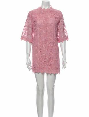 GOEN.J Lace Pattern Mini Dress Pink