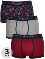 Ted Baker 3pk Pattern/Plain Boxer Shorts