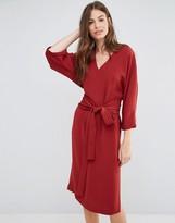 Sisley V-Neck Obi Midi Dress