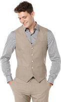 Perry Ellis Big and Tall Two Toned Twill Suit Vest