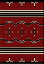 Dakota American Big Chief Rug, Red, 8'x11', Rectangle