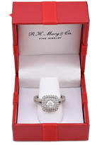 Marchesa Certified Diamond Square Halo Engagement Ring (1-1/4 ct. t.w.) in 18k White Gold, Created for Macy's