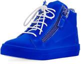 Giuseppe Zanotti Kids' Smuggy Velvet Sneaker, Youth