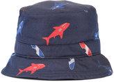 Thom Browne shark print bucket hat - men - Silk - S