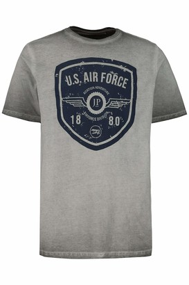 JP 1880 Men's Big & Tall T-Shirt Grey XXXXXXX-Large 726689 12-7XL