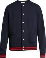 MAISON KITSUNÉ Mount Fuji-appliqué cotton bomber jacket