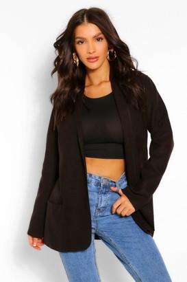 boohoo Collared Lightweight Wool Look Coat
