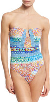 Nanette Lepore Tanzania Tile Seductress One-Piece Swimsuit, Multicolor