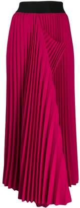 Maison Flaneur asymmetric hem pleated skirt