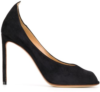 Francesco Russo Peep Toe 105mm Heel Pumps