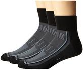 Wrightsock Endurance Quarter 3-Pack Crew Cut Socks Shoes