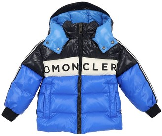 Moncler Febrege Logo Print Nylon Down Jacket