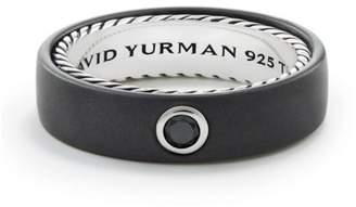David Yurman Black Diamond, Titanium & Sterling Silver Streamline Band Ring