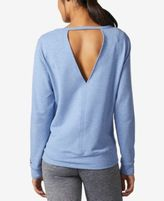 adidas Long-Sleeve Open-Back Cover-Up Top