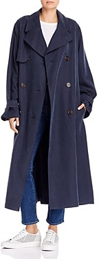 See by Chloe Double-Breasted Long Trench Coat