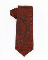 Isaia Paisley Wool-Silk Tie