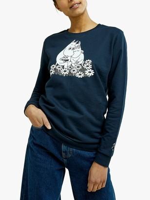People Tree Moomin Graphic Sweatshirt, Navy