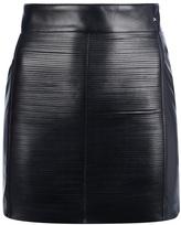 Elisabetta Franchi slashed faux leather miniskirt