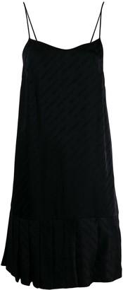Off-White Plisse Slip Dress