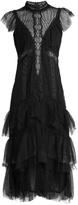 Jonathan Simkhai Tiered-ruffle layered-lace dress