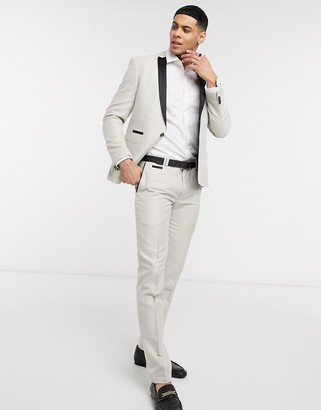 Viggo recycled polyester jacquard slim fit tuxedo trousers